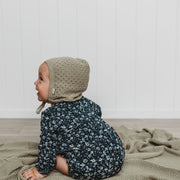 Bonnet - Organic Cotton - Pointelle Knit - Sage