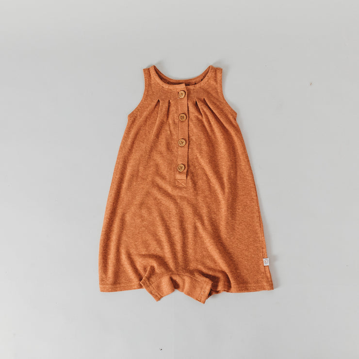 Romper - Bamboo Luxe Linen Jersey - Copper