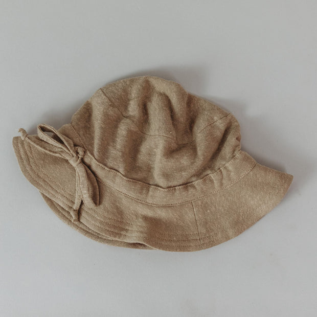 Hat - Baby  - Luxe Linen - Chai