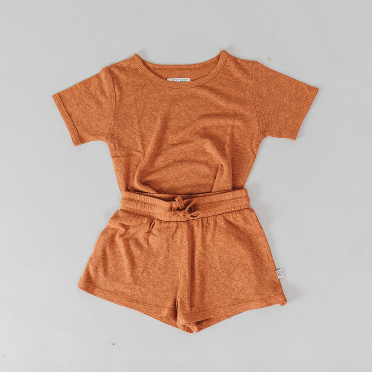 Woman - Bamboo Luxe Linen Jersey  - Shorts - Copper