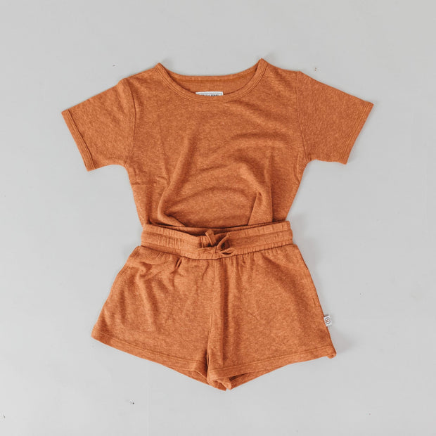 Shorts - Basic Bamboo Luxe Linen - Copper
