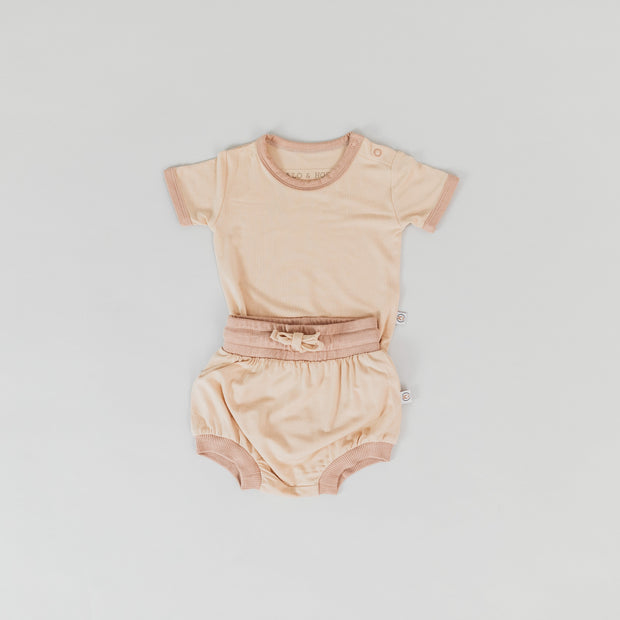 Onesie - Short Sleeve - Sirroco Wheat