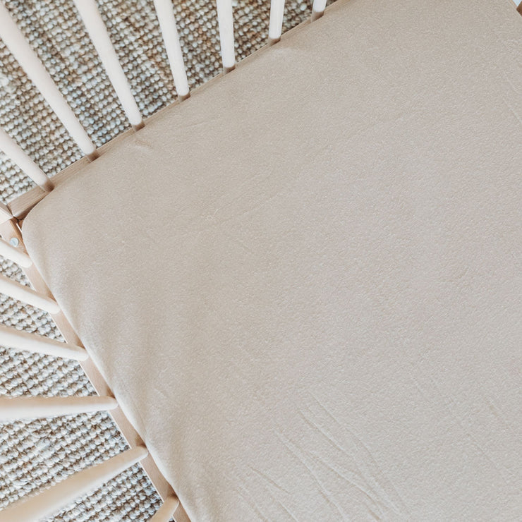 Cot Sheet - Fitted - Bamboo Luxe Linen Jersey - Dove