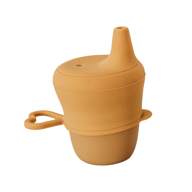 Silicone Sippy Cup with Lid - Honey