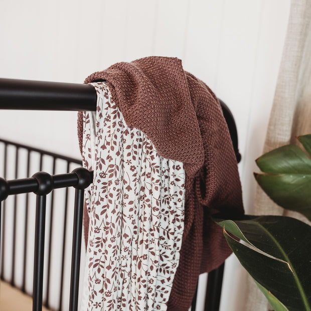 Baby Heritage Blanket - Organic Cotton - Mulberry