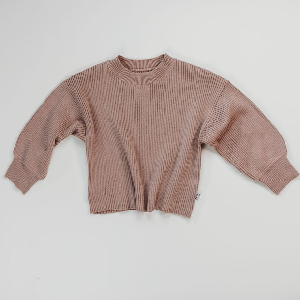 Rib Knit Sweater  - Organic Cotton Blend - Sirocco
