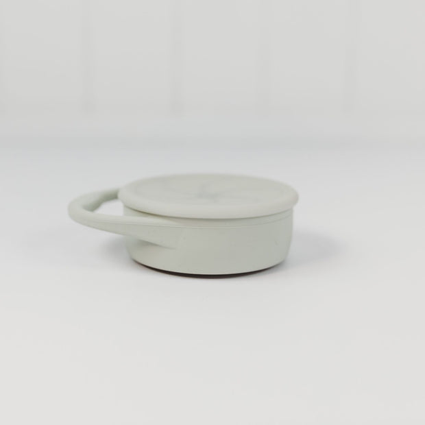 Silicone Snack Cup with Lid -collapsible - Sage