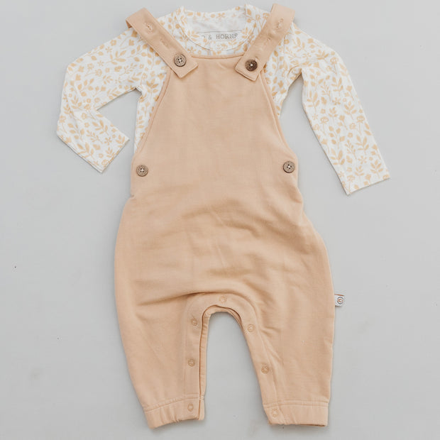 Scout Overalls  - Bamboo French Terry - Wheat