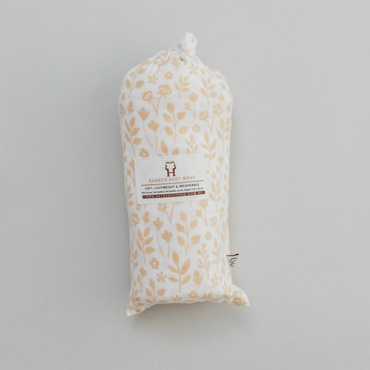Baby Swaddle/Wrap - Organic Bamboo jersey - Meadow