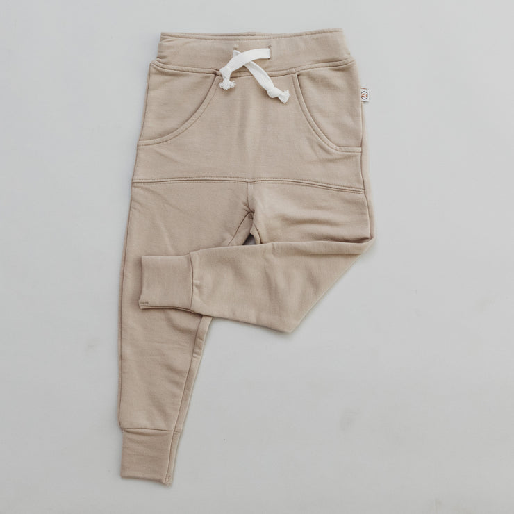 PANTS - Joggers Bamboo French Terry - Fawn