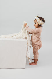 Baby Swaddle/Wrap - Organic Bamboo jersey - Honey Vintage