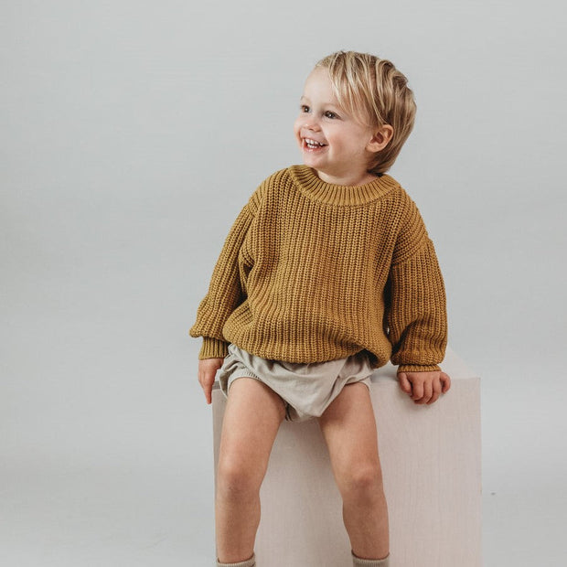Chunky Knit Sweater  - Organic Cotton - Honey