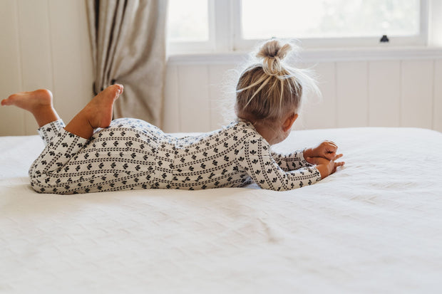PJ Set - Luxe Bamboo Pattern - Pants and Top