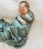 Baby Swaddle/Wrap - Organic Bamboo Muslin - Forrest