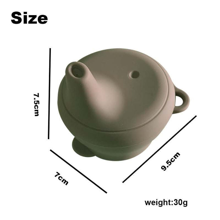 Silicone Sippy Cup with Lid - Sirocco