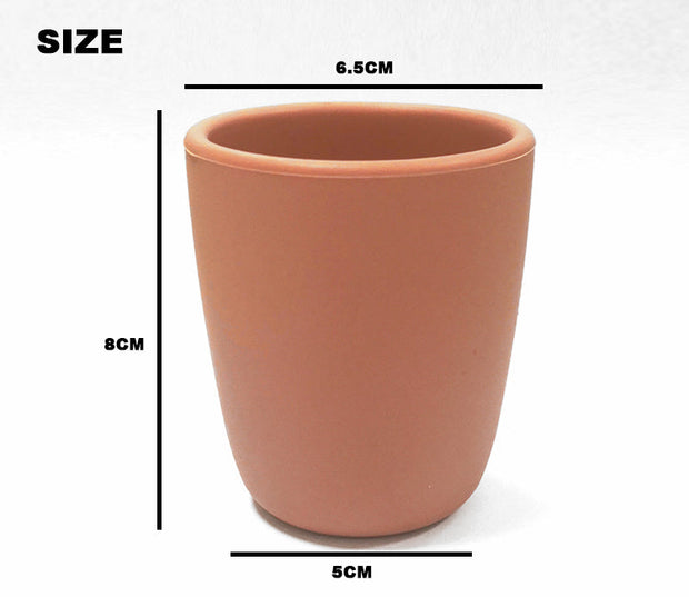 Silicone Sippy Cup with Lid - Caramel