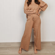 Woman - Organic Rib Knit Pants - Sirocco