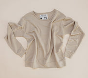 Woman - Bamboo French Terry Pullover - Fawn