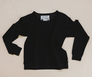 Woman - Bamboo French Terry Pullover - Black