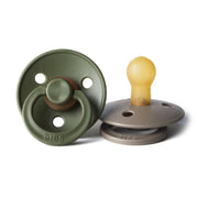 BIBS Soothers/Dummies - Dark Oak/Hunter Green