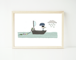 Pirate in the bathtub - personalized