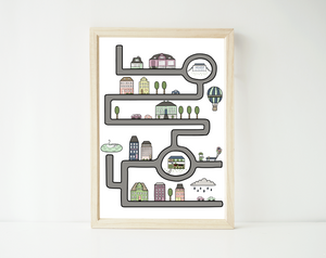 European city (blue/green) - personalized