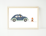 Police fox chase - personalized