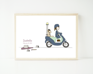 Police on a scooter- personalized