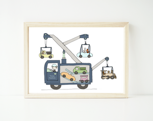 Tow truck friends - personalized
