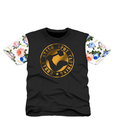 Gold Floral Custom T-Shirt