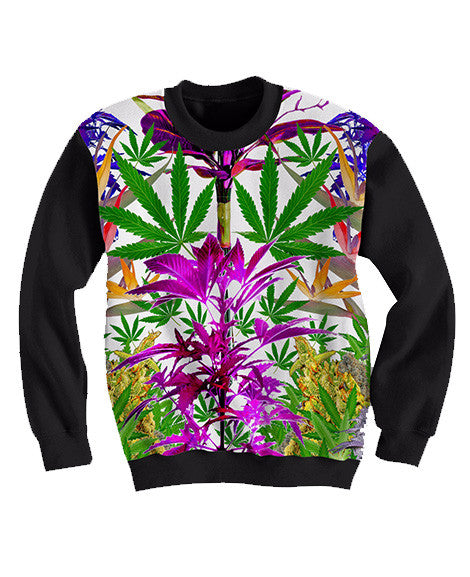 Purple Fields Crewneck