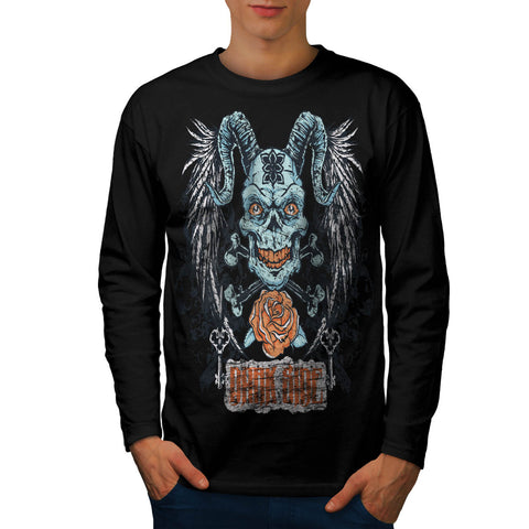 Darkside Animal Face Mens Long Sleeve T-Shirt