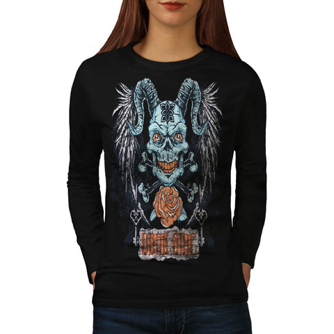 Darkside Animal Face Womens Long Sleeve T-Shirt