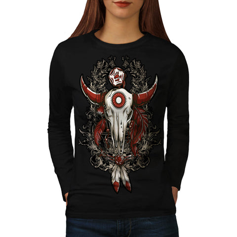 Danger Animal Head Womens Long Sleeve T-Shirt