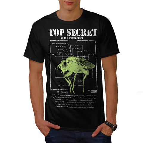 Top Secret Fly Insect Mens T-Shirt