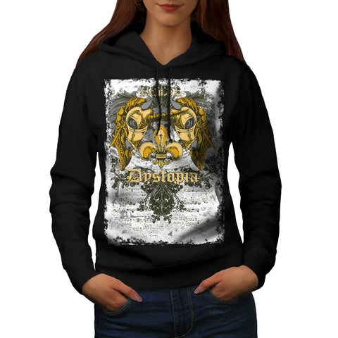 Dystopia Scary City Womens Hoodie