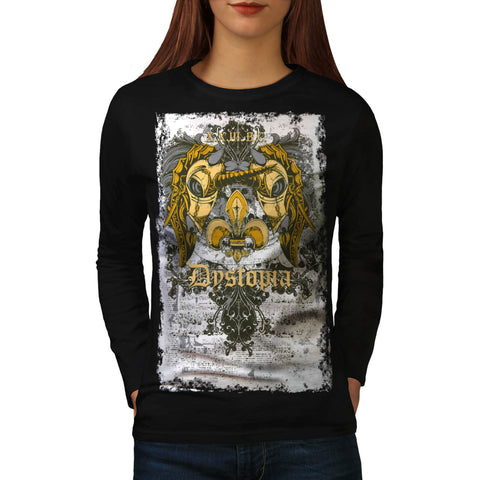 Dystopia Scary City Womens Long Sleeve T-Shirt