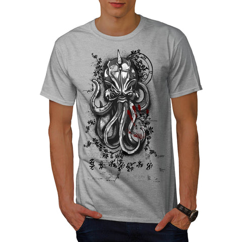 Evil Octopus Mask Mens T-Shirt