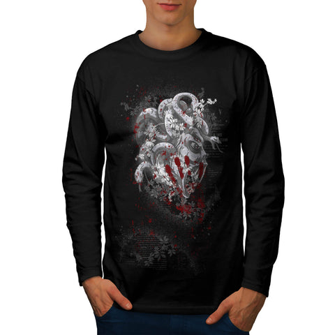 Medusa Godess Snake Mens Long Sleeve T-Shirt