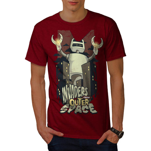 Invaders Outer Space Mens T-Shirt
