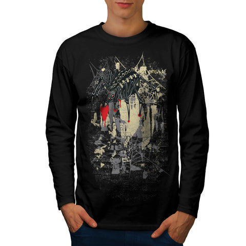 Evil Spider Web Fear Mens Long Sleeve T-Shirt