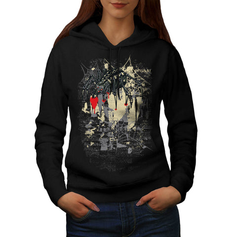 Evil Spider Web Fear Womens Hoodie