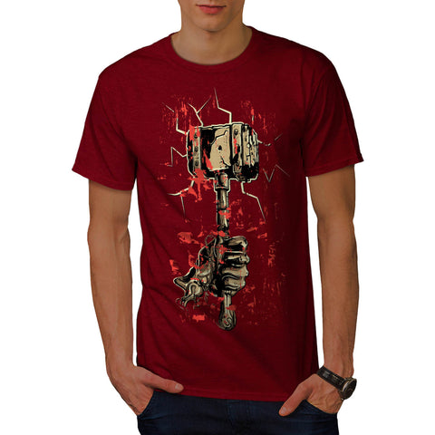 Horror Hammer Weapon Mens T-Shirt