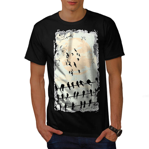 Flock Of Scary Birds Mens T-Shirt