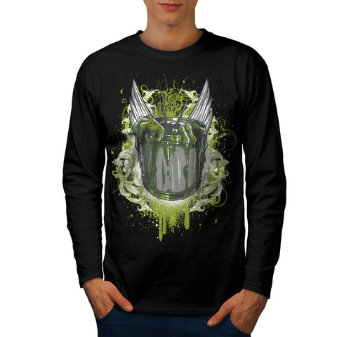 Drum Set Zombie Hand Mens Long Sleeve T-Shirt