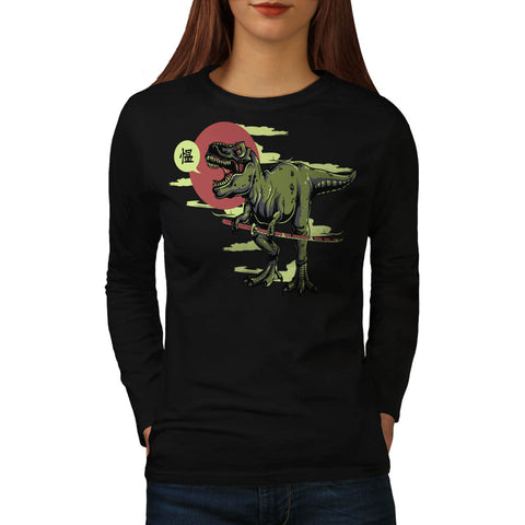 T-Rex Dinosaur Japan Womens Long Sleeve T-Shirt