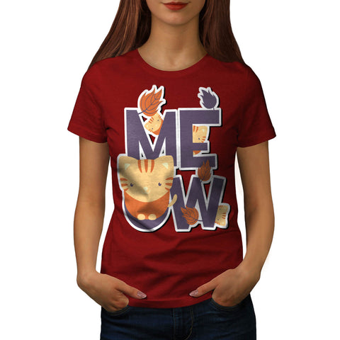 Meow Tiny Cute Cats Womens T-Shirt