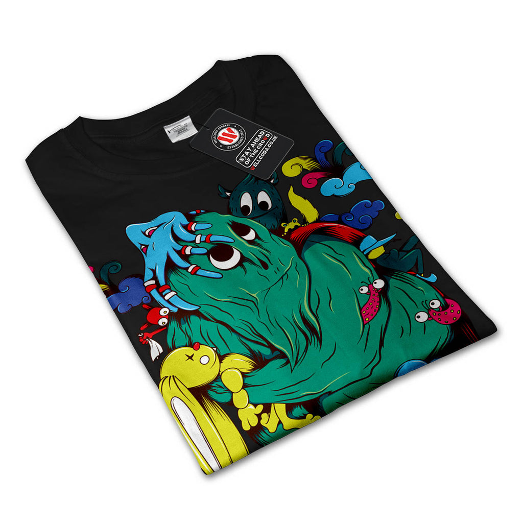 Crazy Monster Party Mens Long Sleeve T-Shirt