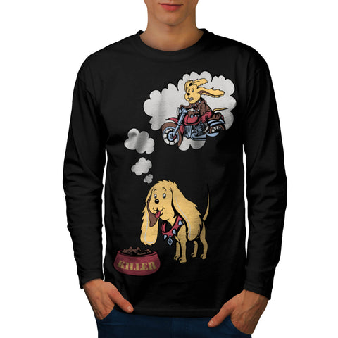 Dog Thinking Biker Mens Long Sleeve T-Shirt