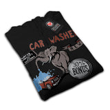 Elephant Car Washer Mens Hoodie